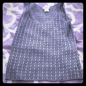 Metallic silver tank top